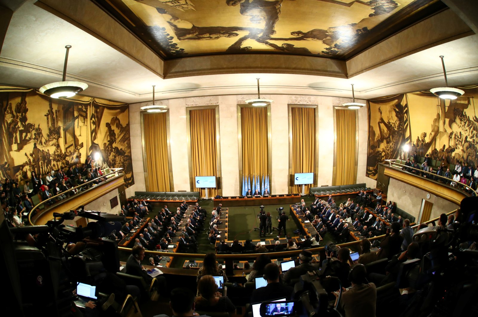 An overview of the first meeting of the new Syrian Constitutional Committee at the United Nations in Geneva, Switzerland, Oct. 30, 2019. (Reuters File Photo)