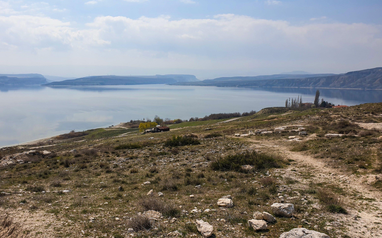 Photo shows a view of the Sarıyar Dam from the hill that seats Juliopolis in Ankara. (Photo by Argun Konuk)