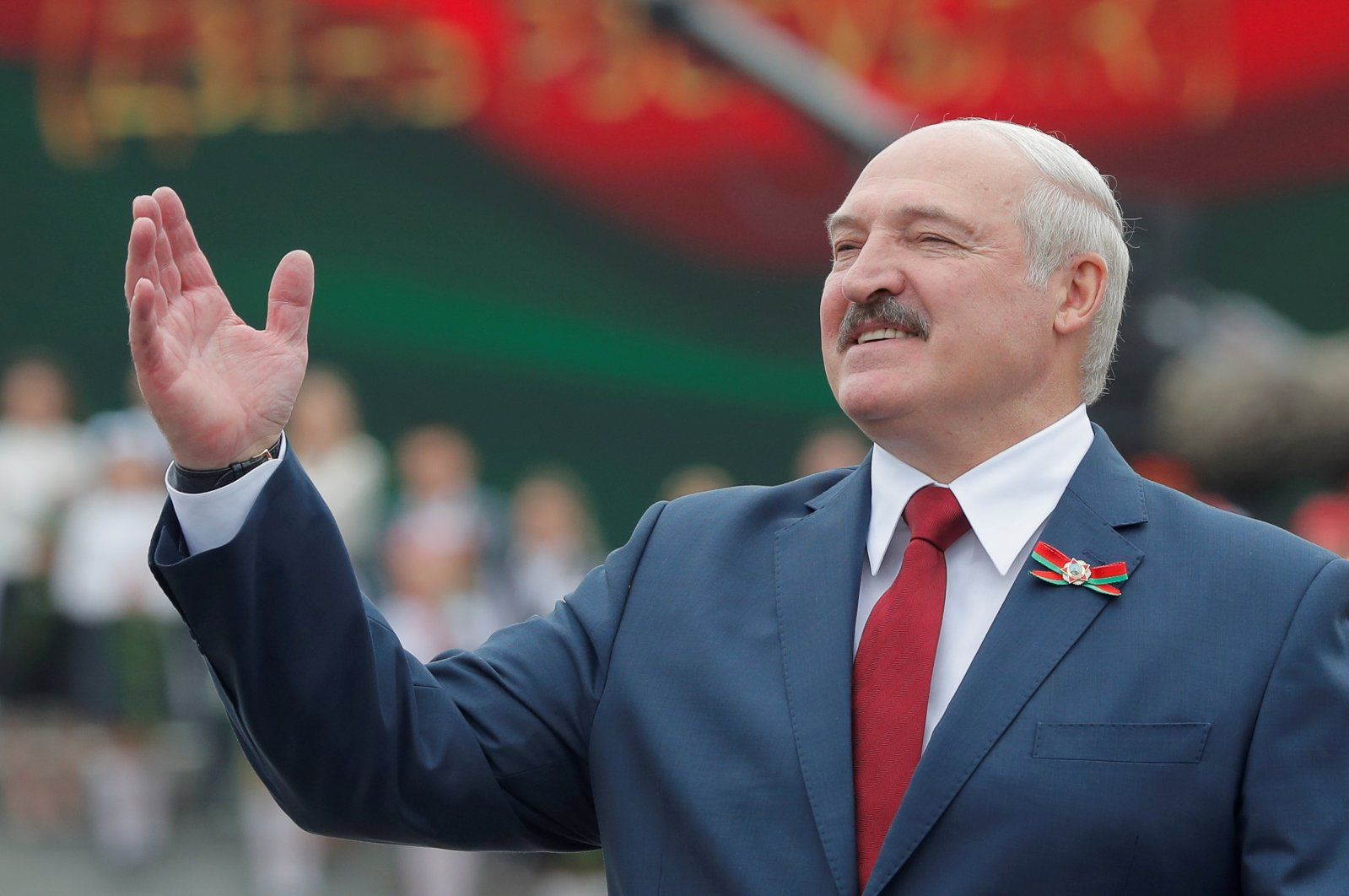 Belarusian President Alexander Lukashenko gestures as he takes part in the celebrations of Independence Day in Minsk, Belarus July 3, 2020. (Reuters Photo)