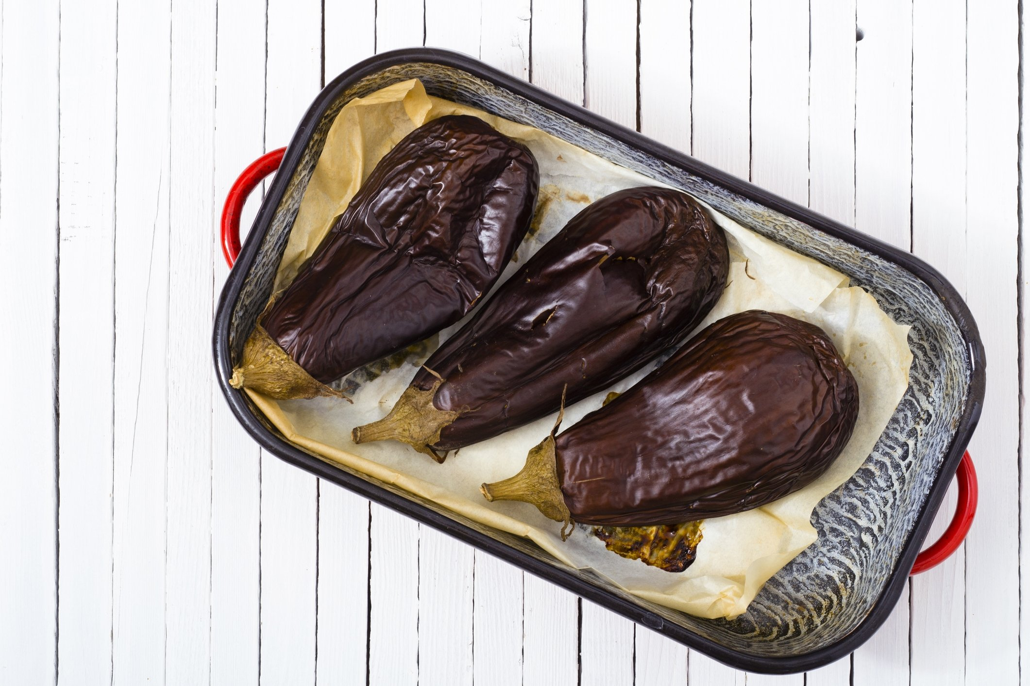 The best mess-free way to make smoky grilled eggplants is to bake them in the oven. (iStock Photo)