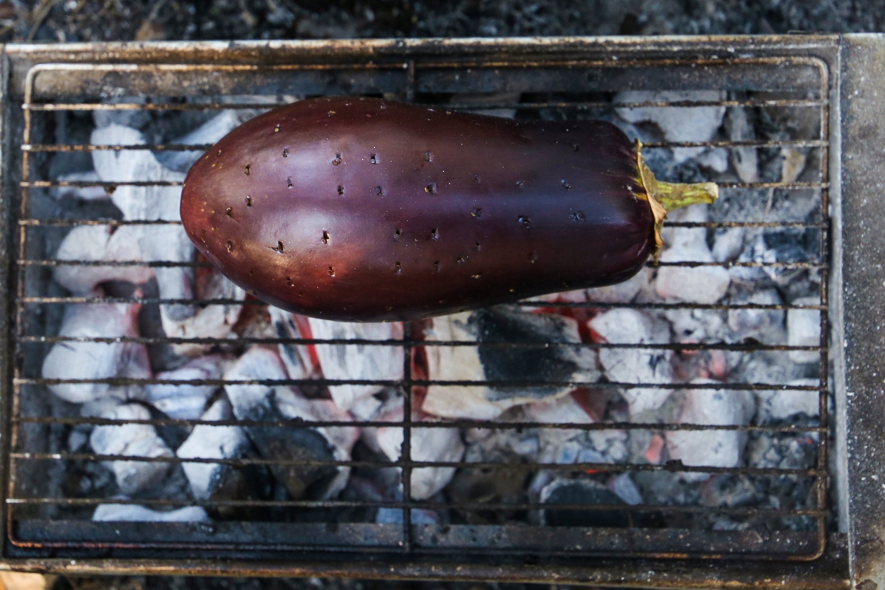 Makes sure to poke a few holes in your eggplants before roasting them to prevent them from exploding. (Shutterstock Photo)