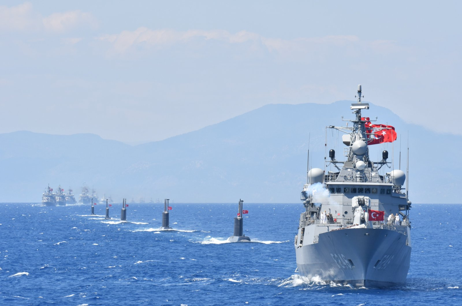 Turkish naval forces conduct training exercises, May 14, 2019. (İHA Photo)
