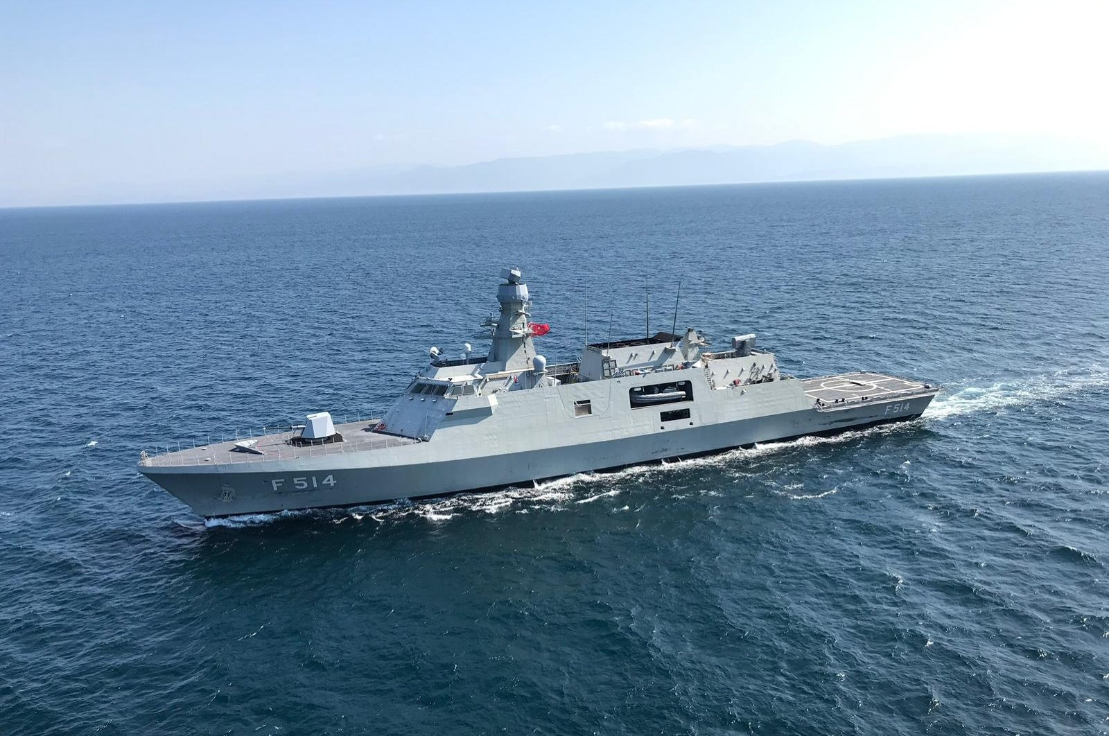 TCG Kınalıada, fourth vessel of the MILGEM project. (AA Photo)