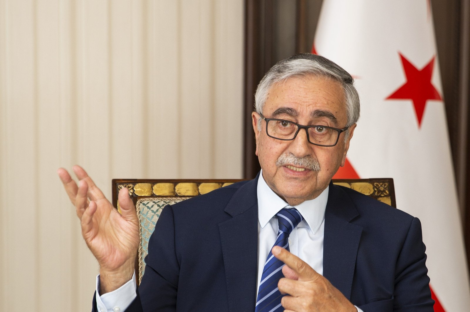Turkish Republic of Northern Cyprus' (TRNC) President Mustafa Akıncı, July 14, 2019. (AA Photo)