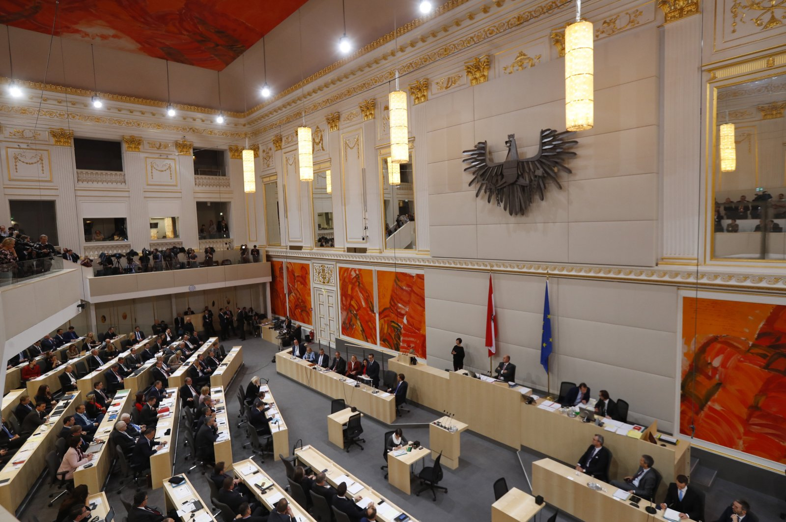 A general view of a session of the parliament in Vienna, Austria, Dec. 20, 2017. (Reuters Photo)