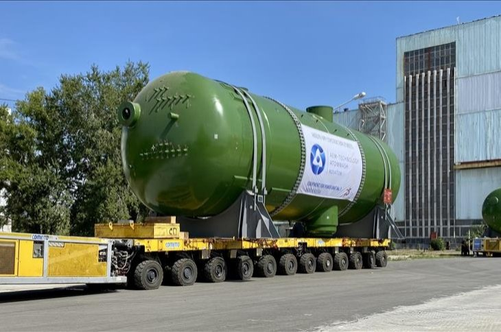 The four steam generators are ready to be shipped to southern Turkey's Mersin. (AA File Photo)