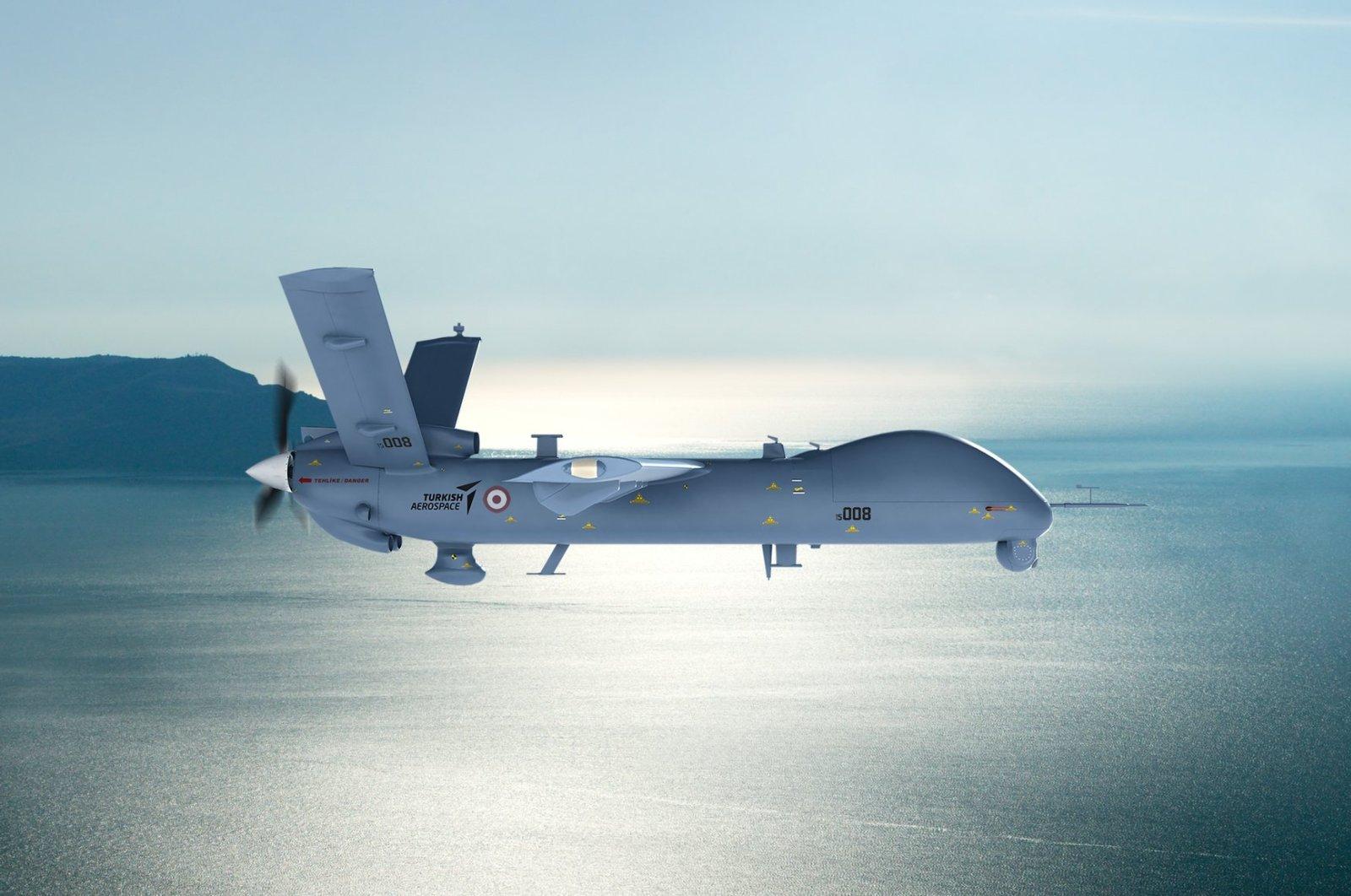 Domestically manufactured ANKA drone. (Photo courtesy of TAI)