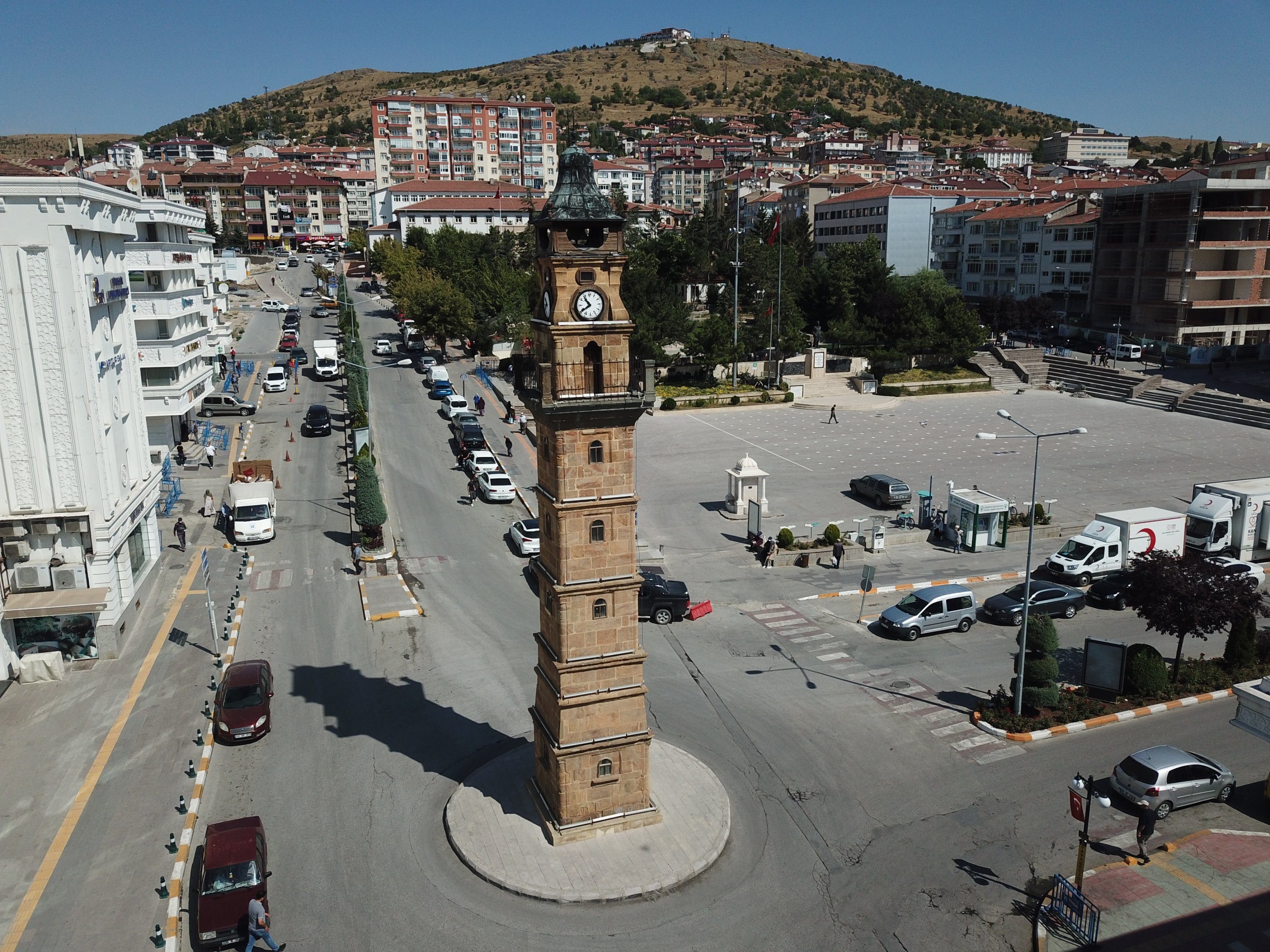 The clock tower in central Yozgat province has seven floors, Turkey, Aug. 24, 2020. (AA Photo)