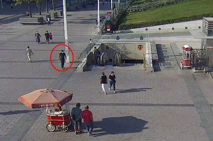 CCTV footage released by Turkish police shows Daesh terrorist H.S. walking around near Taksim Square to plan an attack. (IHA Photo)
