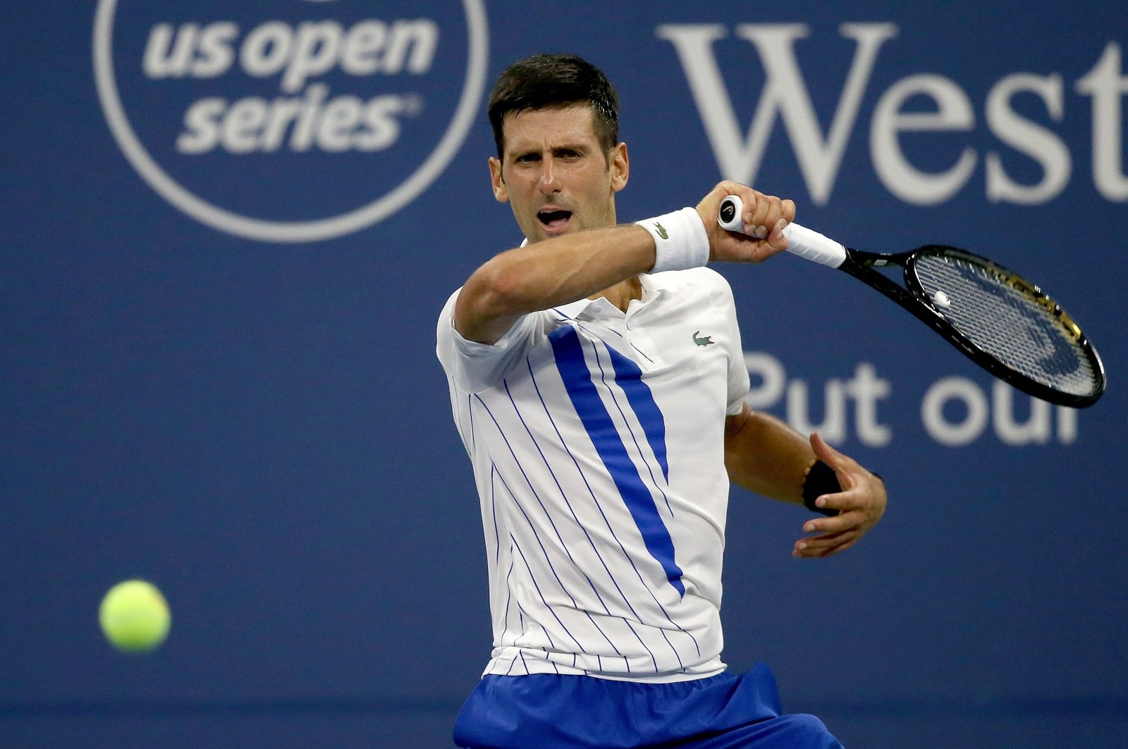 Novak Djokovic during the Western & Southern Open tournament in New York City, New York, U.S., Aug. 24, 2020. (AFP Photo)