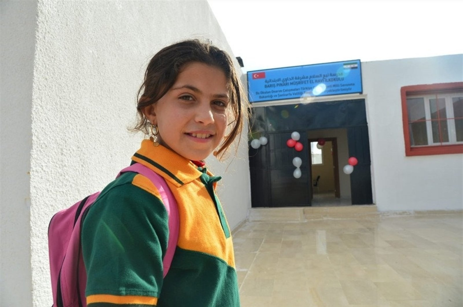A school that was damaged by YPG/PKK terrorists is ready to host students after being restored by Turkey, Dec. 4, 2019. (IHA Photo)