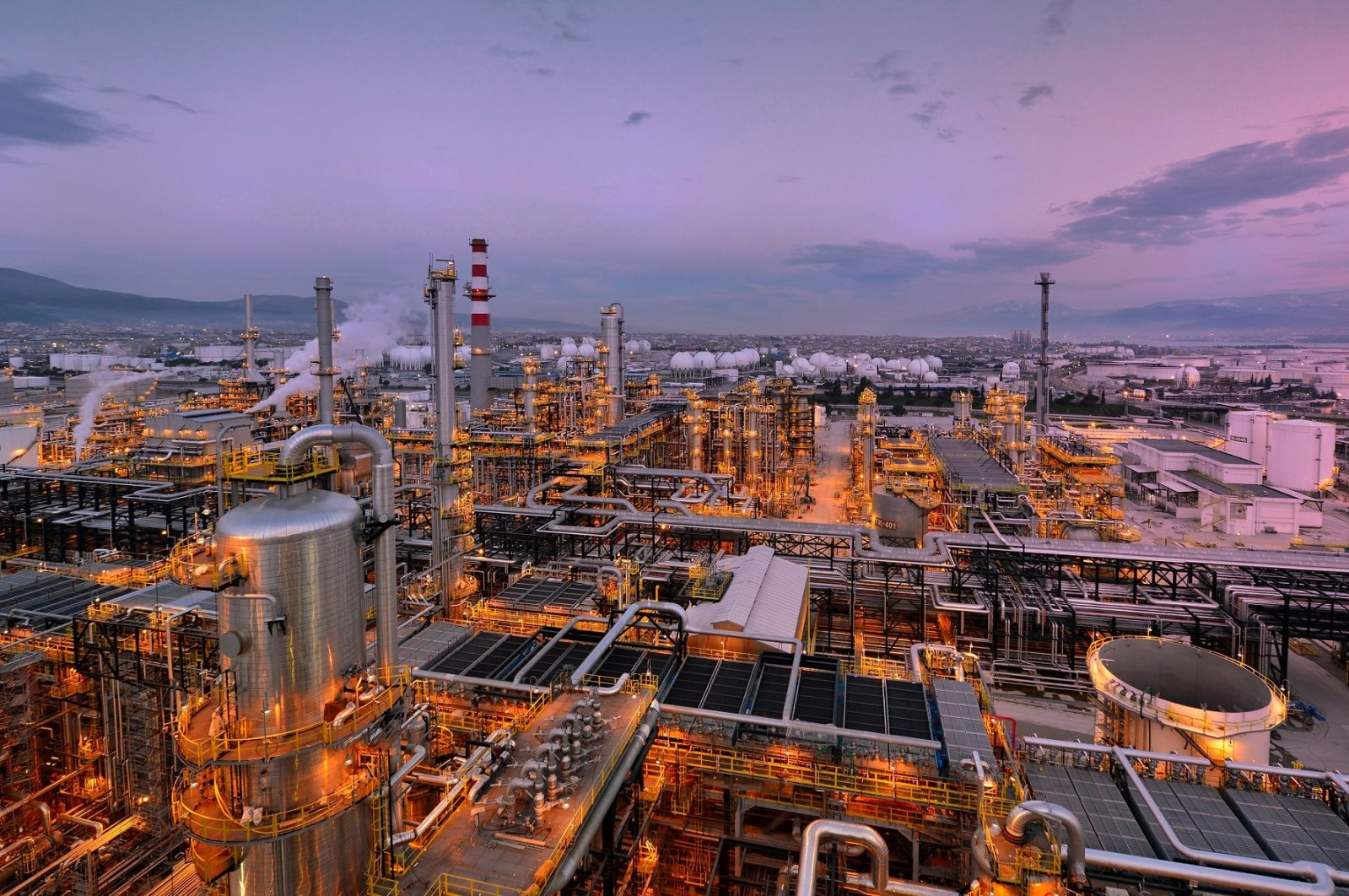 TÜPRAŞ is Europe's 7th largest refinery with 30 million tons of crude oil processing capacity. (AA Photo)