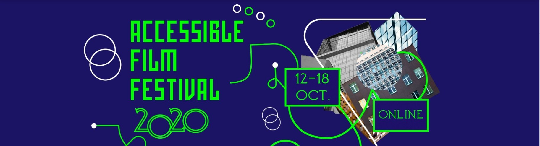 A poster of the Accessible Film Festival 2020.