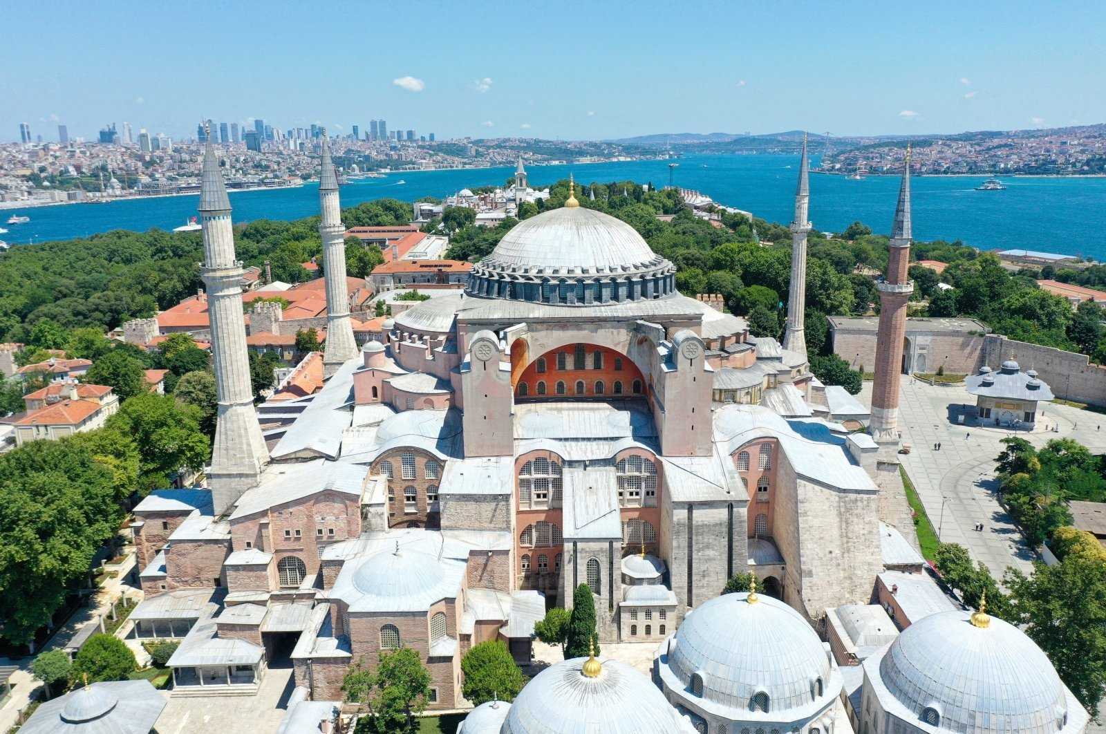 Ibrahim Hakkı Konyalı prevented the destruction of the minarets of Hagia Sophia, seen in this photo provided on July 22, 2020. (AA Photo)