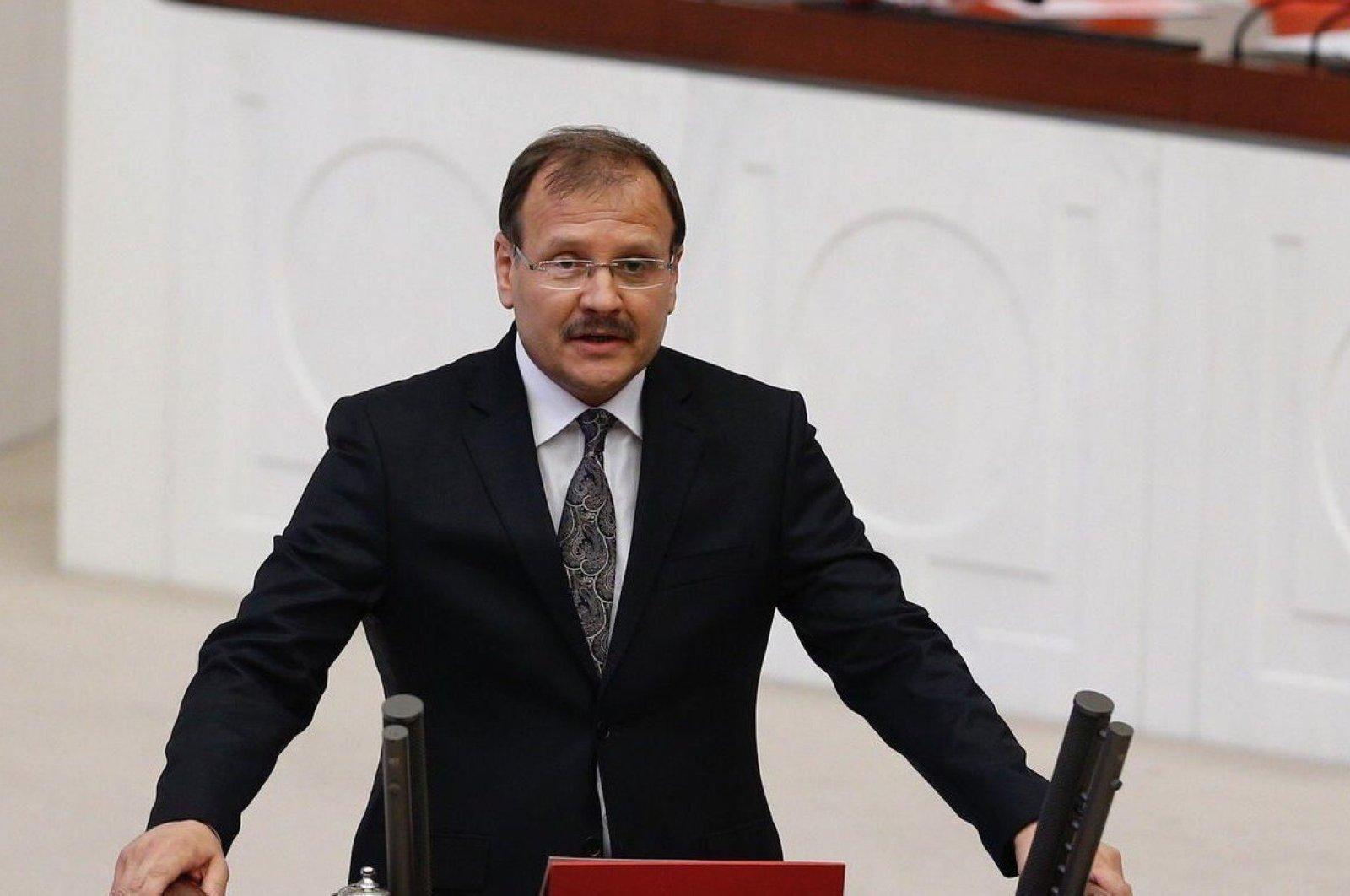 Hakan Çavuşoğlu, head of the Turkish Parliament's Human Rights Commission, speaks at the General Assembly, Ankara, Turkey, April 30, 2020. (AA File Photo)