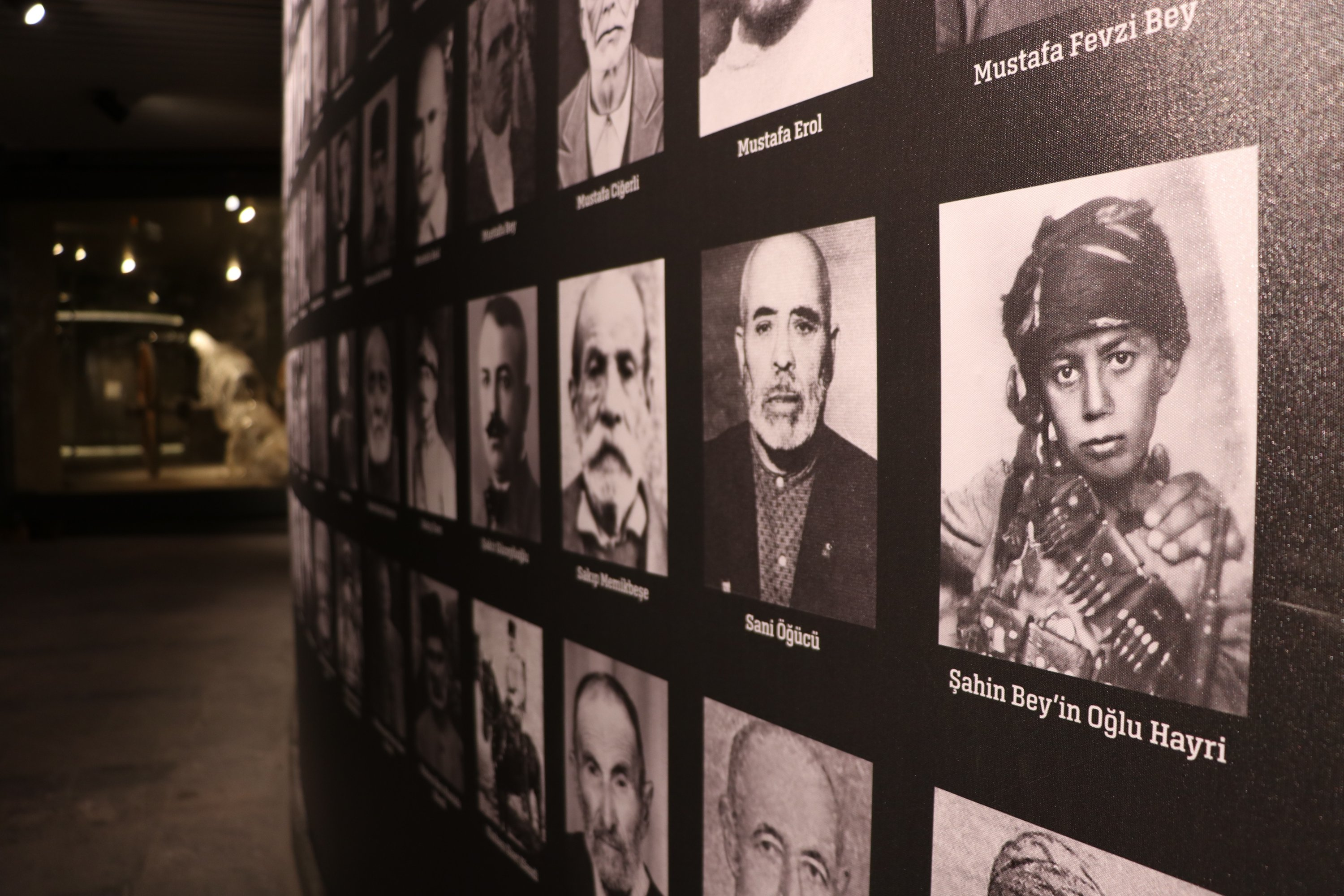 Photos and belongings of war veterans and martyrs are on display at the museum in Gaziantep, southeastern Turkey, Aug. 26, 2020. (AA Photo)