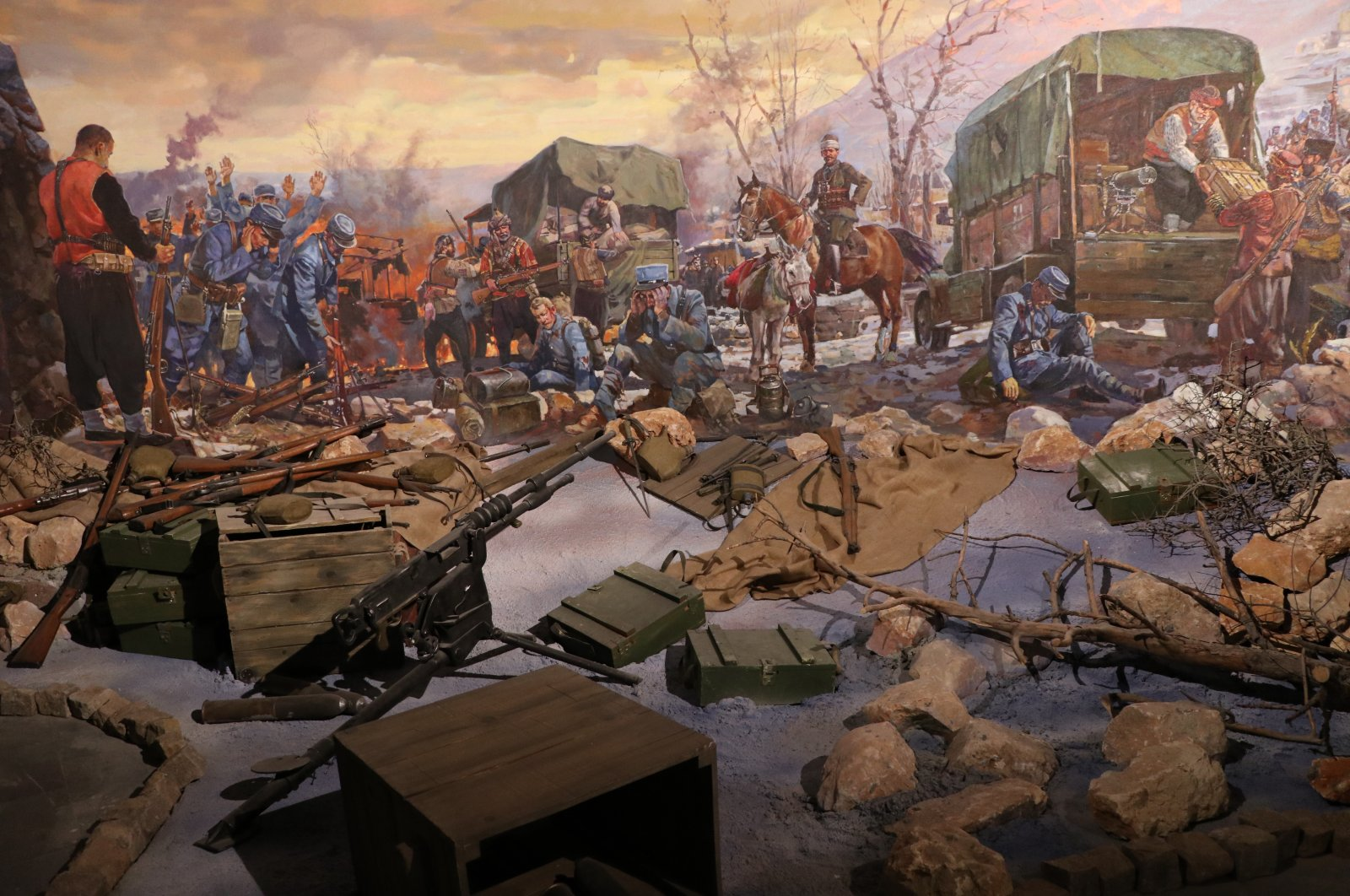 The Panorama December 25 Museum depicts the city's struggle during the War of Independence with oil paintings by Alexander Samsonov, in Gaziantep, southeastern Turkey, Aug. 26, 2020. (AA Photo)