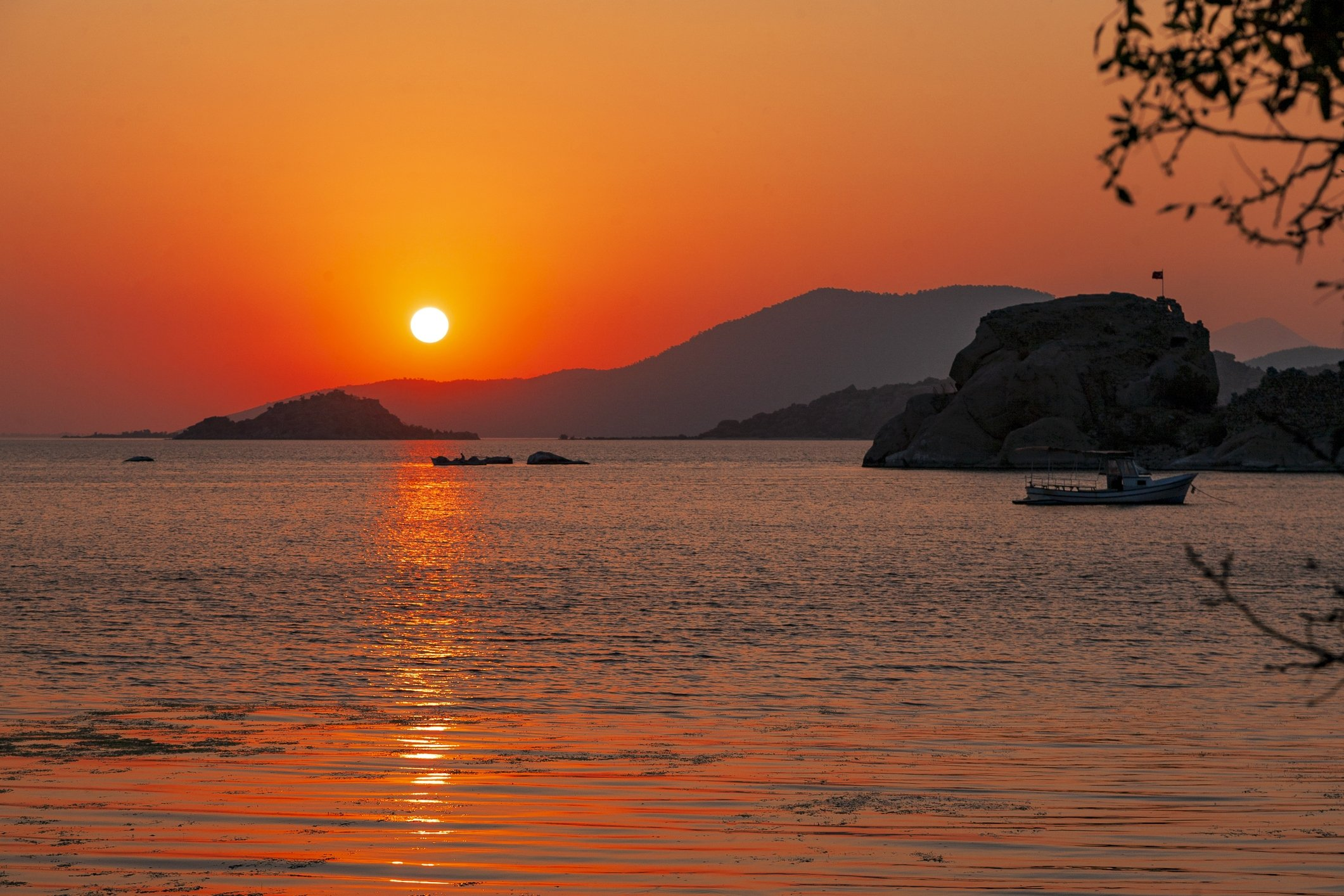 A scene from Kapikiri, Lake Bafa, at sunset, Muğla, Turkey. (iStock Photo)