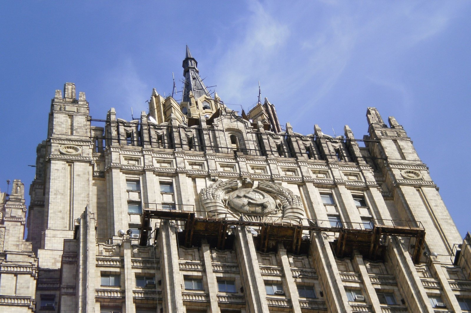 This undated photo shows the Russian Foreign Ministry building in Moscow, Russia. (File Photo)