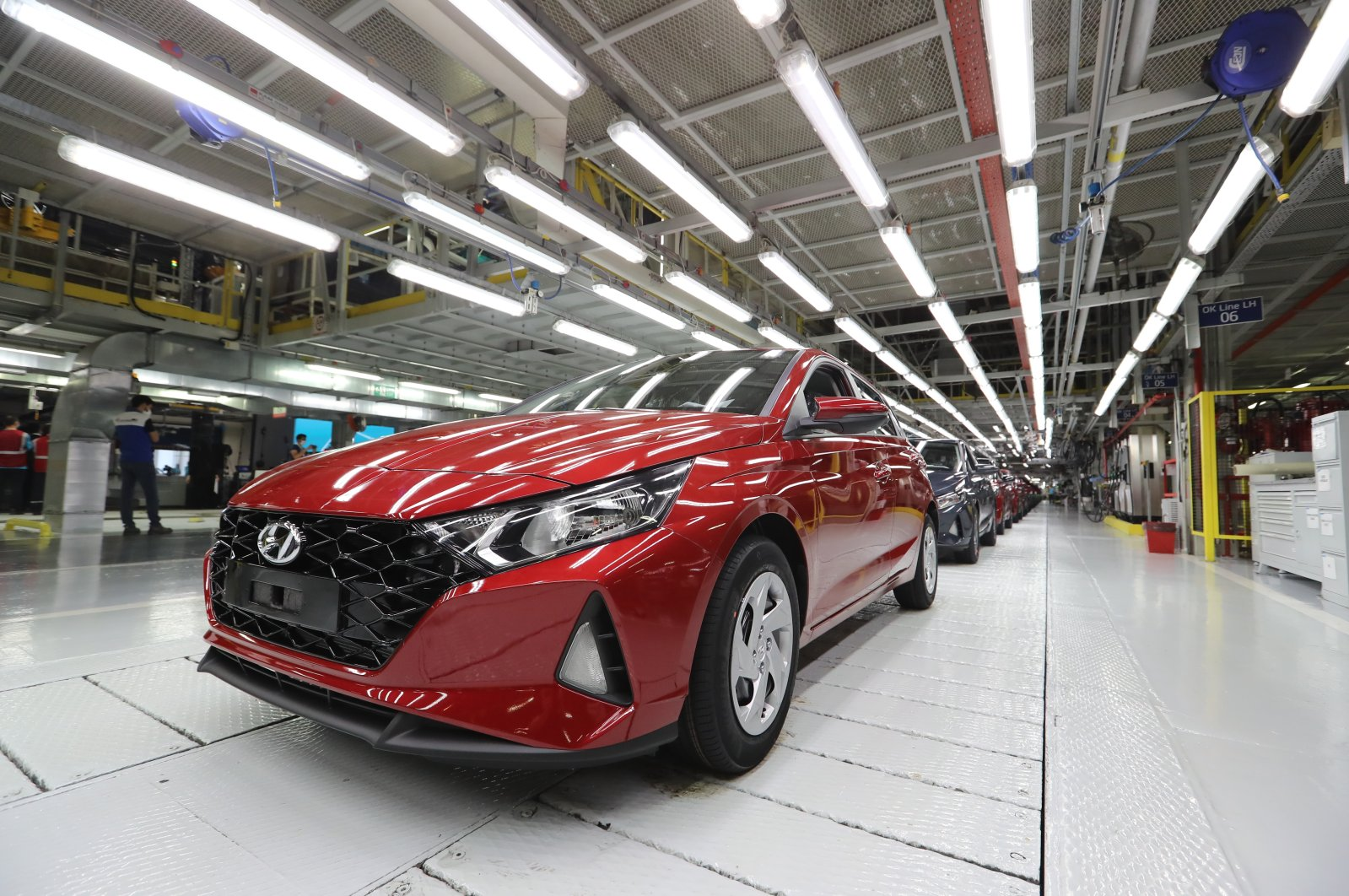 The new i20 model at Hyundai Assan's Izmit factory in northwestern Kocaeli, Turkey, Aug. 28, 2020. (AA Photo)
