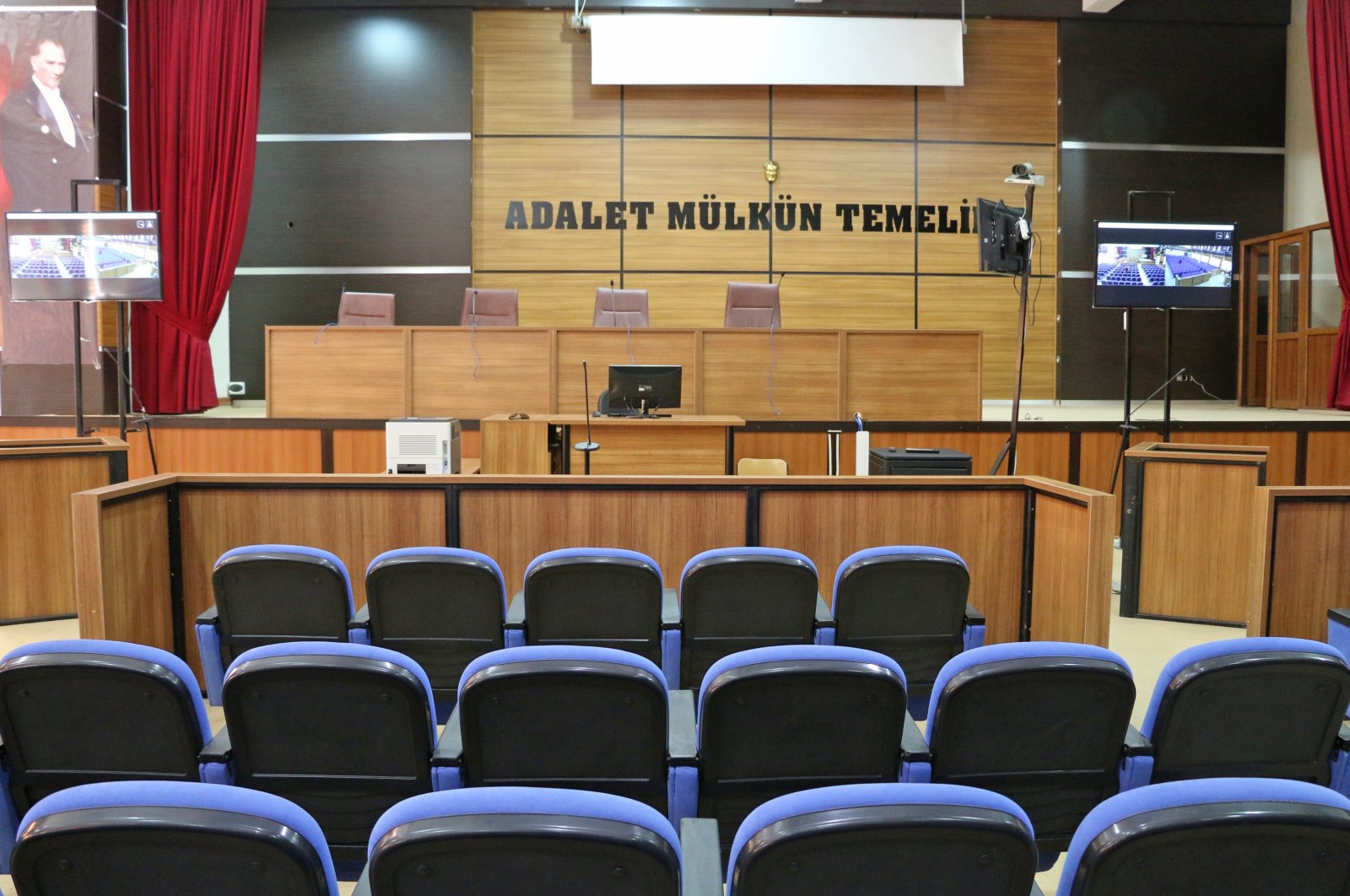 A view of a typical Turkish court in southeastern Siirt province,