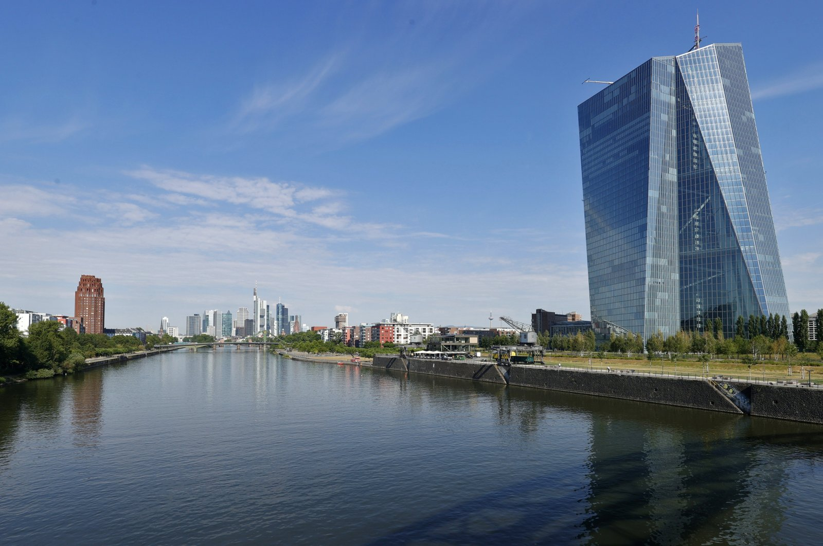 A general view of the building of the European Central Bank (ECB) in Frankfurt am Main, Germany, July 14, 2020. (EPA Photo)