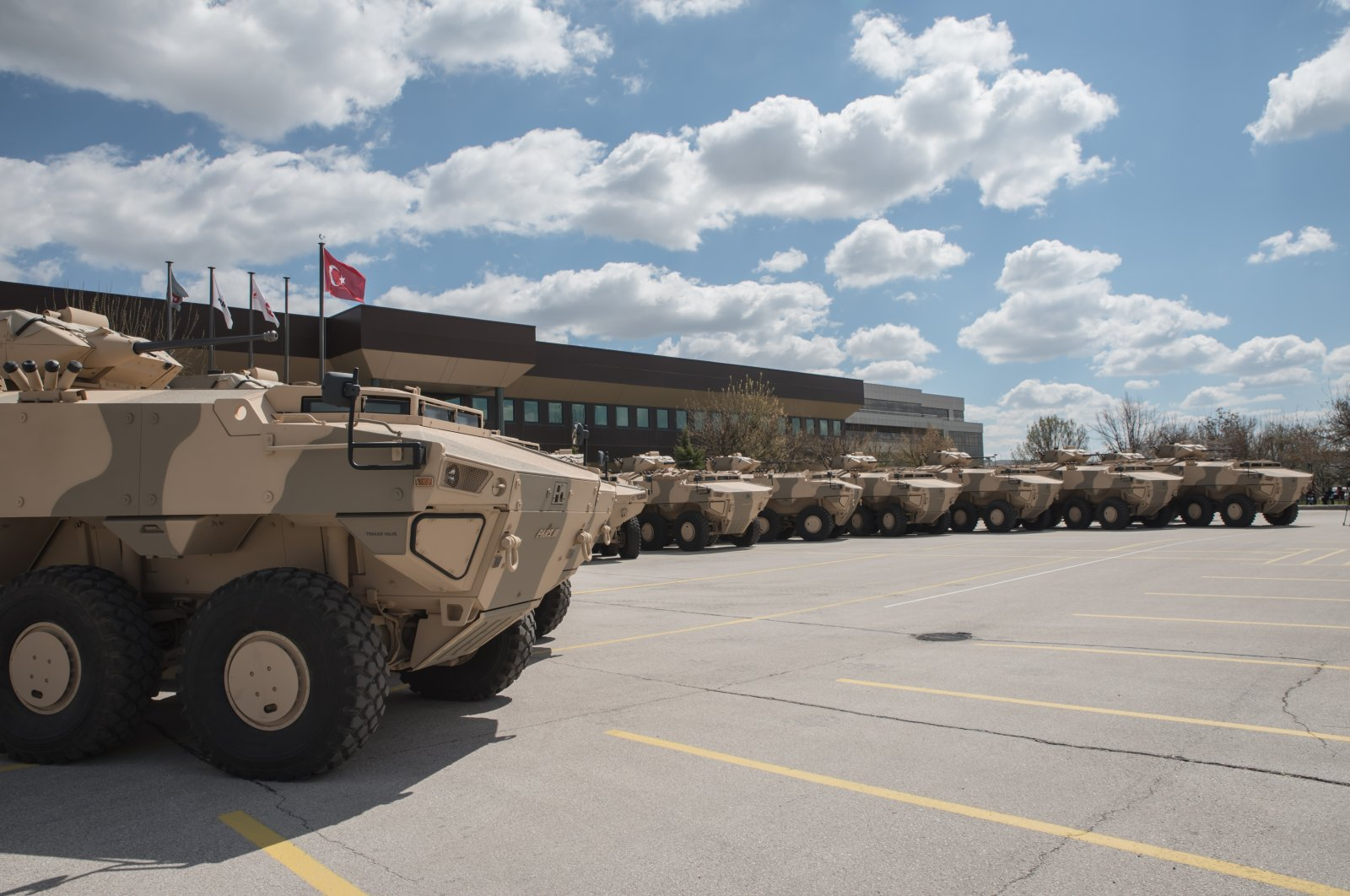 The FNSS has delivered total of 172 armored vehicles to Oman to date. (Photo by FNSS via AA)