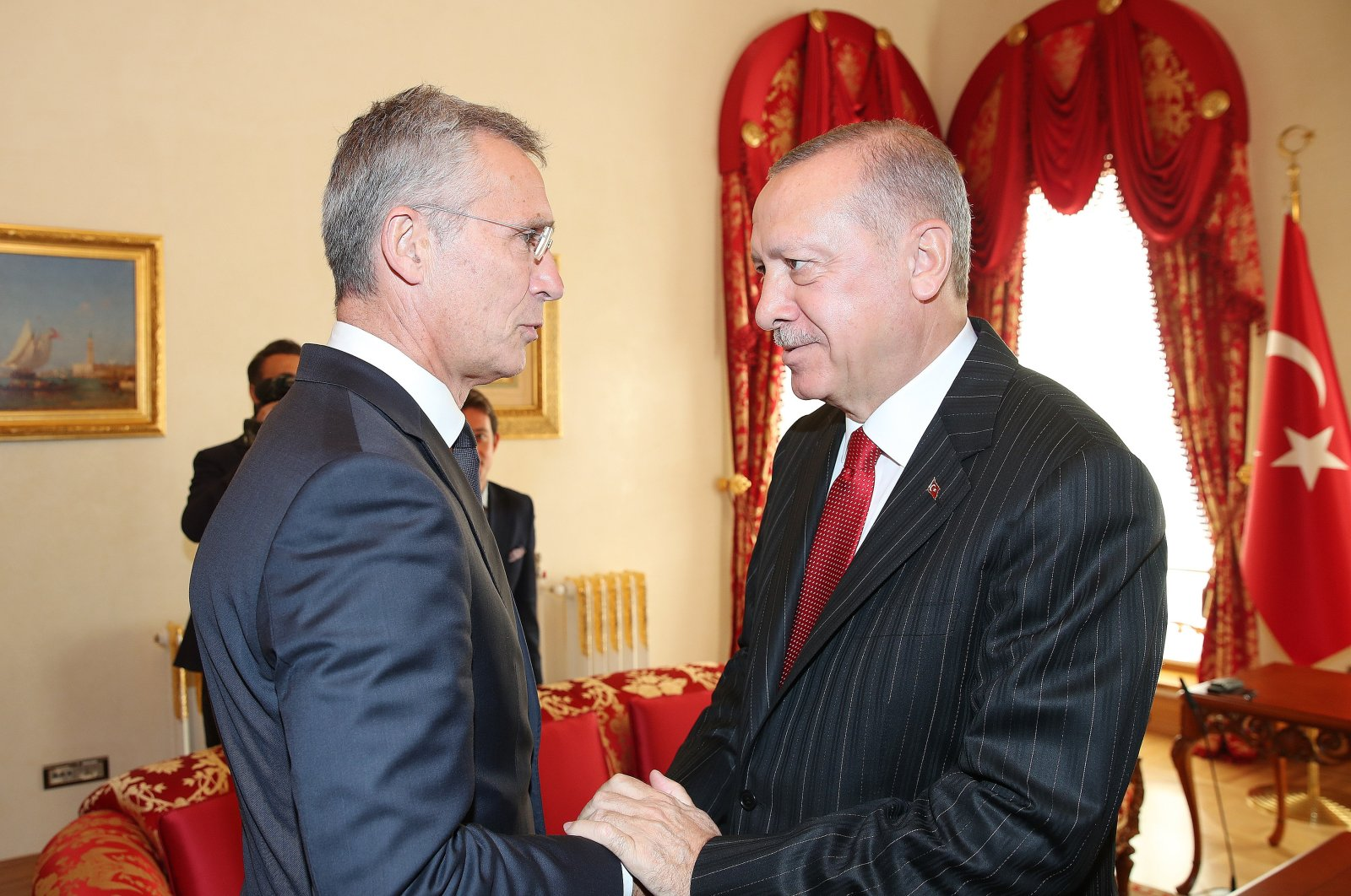 President Recep Tayyip Erdoğan (right) and NATO Secretary-General Jens Stoltenberg in this undated picture. (AA Photo)