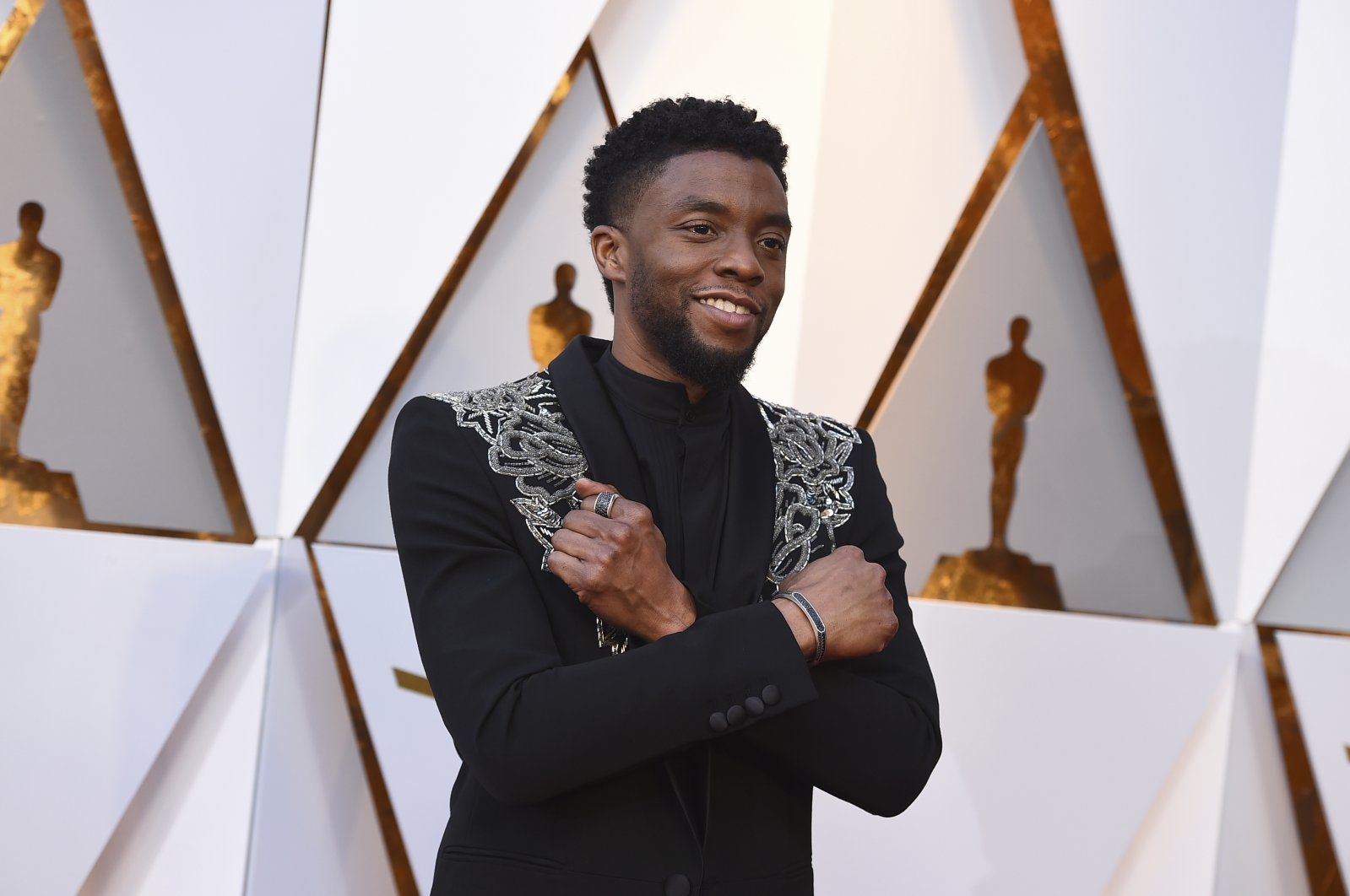 In this March 4, 2018 file photo, Chadwick Boseman arrives at the Oscars at the Dolby Theatre in Los Angeles. (AP Photo)