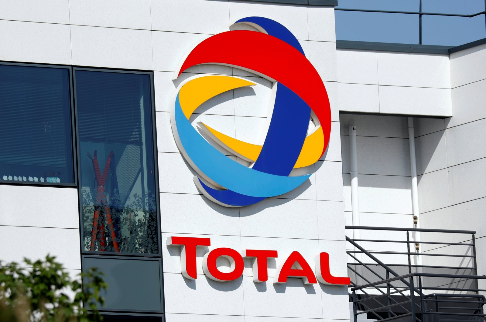 The logo of Total is pictured at the company's headquarters in Rueil-Malmaison near Paris, France, April 22, 2020. (Reuters Photo)
