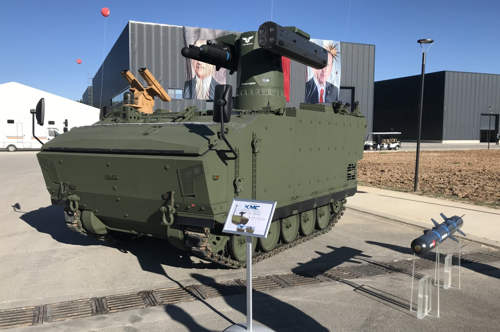 Yalman Weapon System displayed at Roketsan's Rocket Launch, Space Systems and Advanced Technologies Research Center in Ankara, Aug. 30, 2020. (AA Photo)