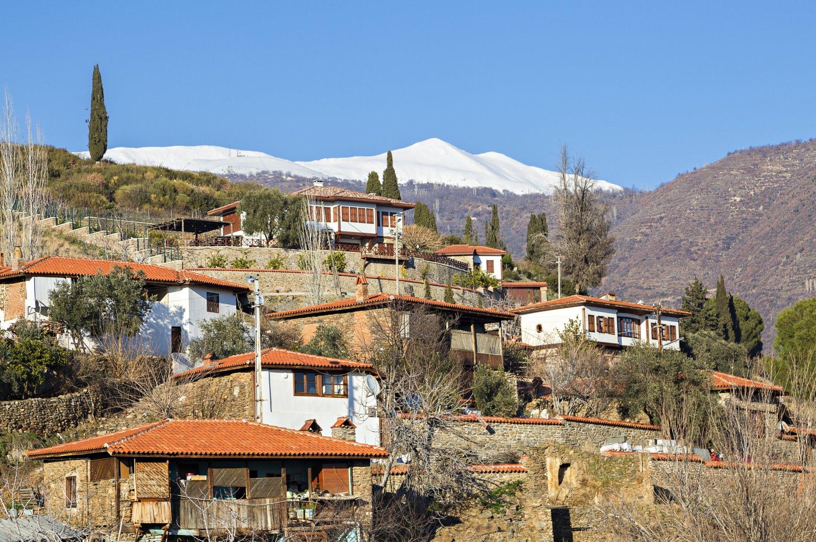 A general view of the Birgi neighborhood, İzmir province, western Turkey.