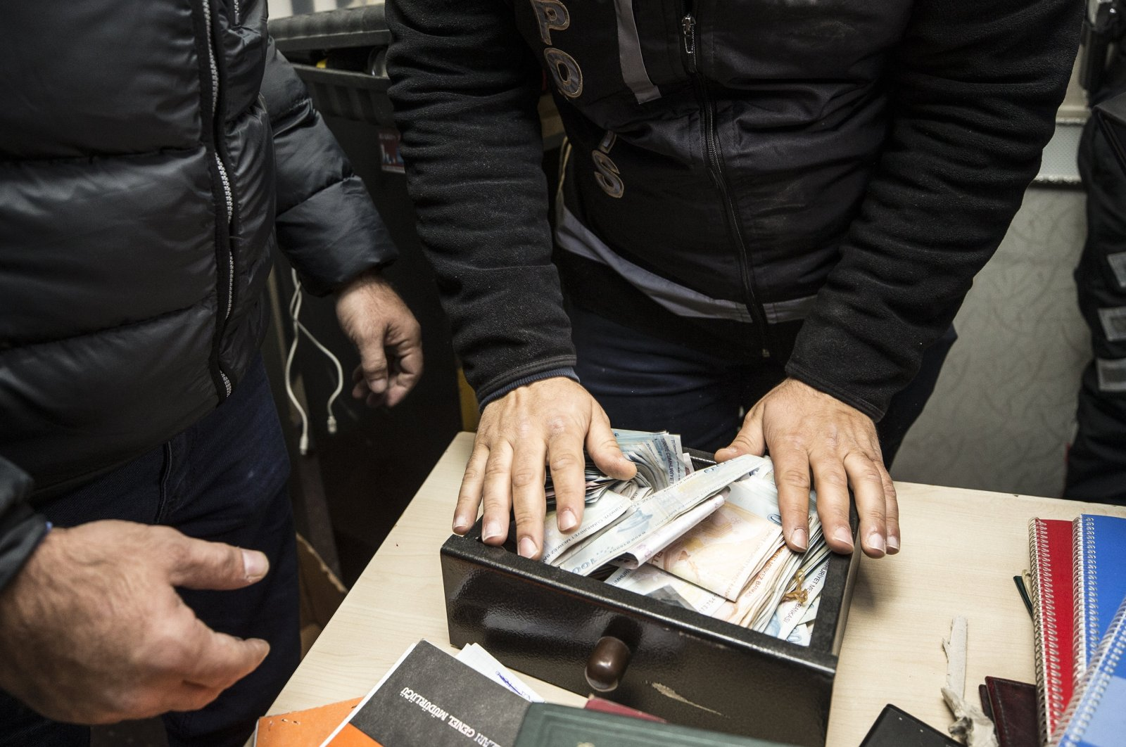 21 suspects of a criminal organization working for the PKK terrorist group have been detained in Ankara on charges of cybercrime, extortion and terrorist propaganda. (AA Photo)