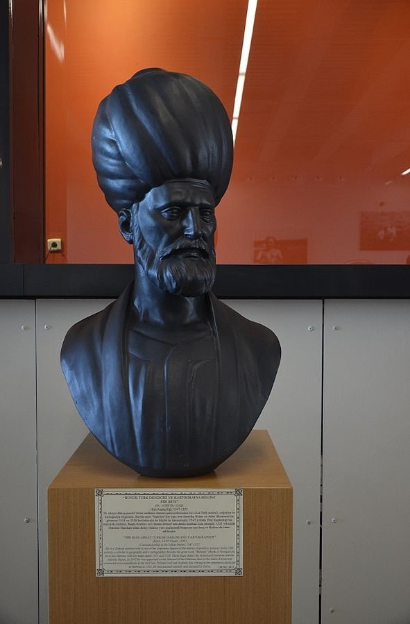 A bust of Piri Reis in the Istanbul Naval Museum.