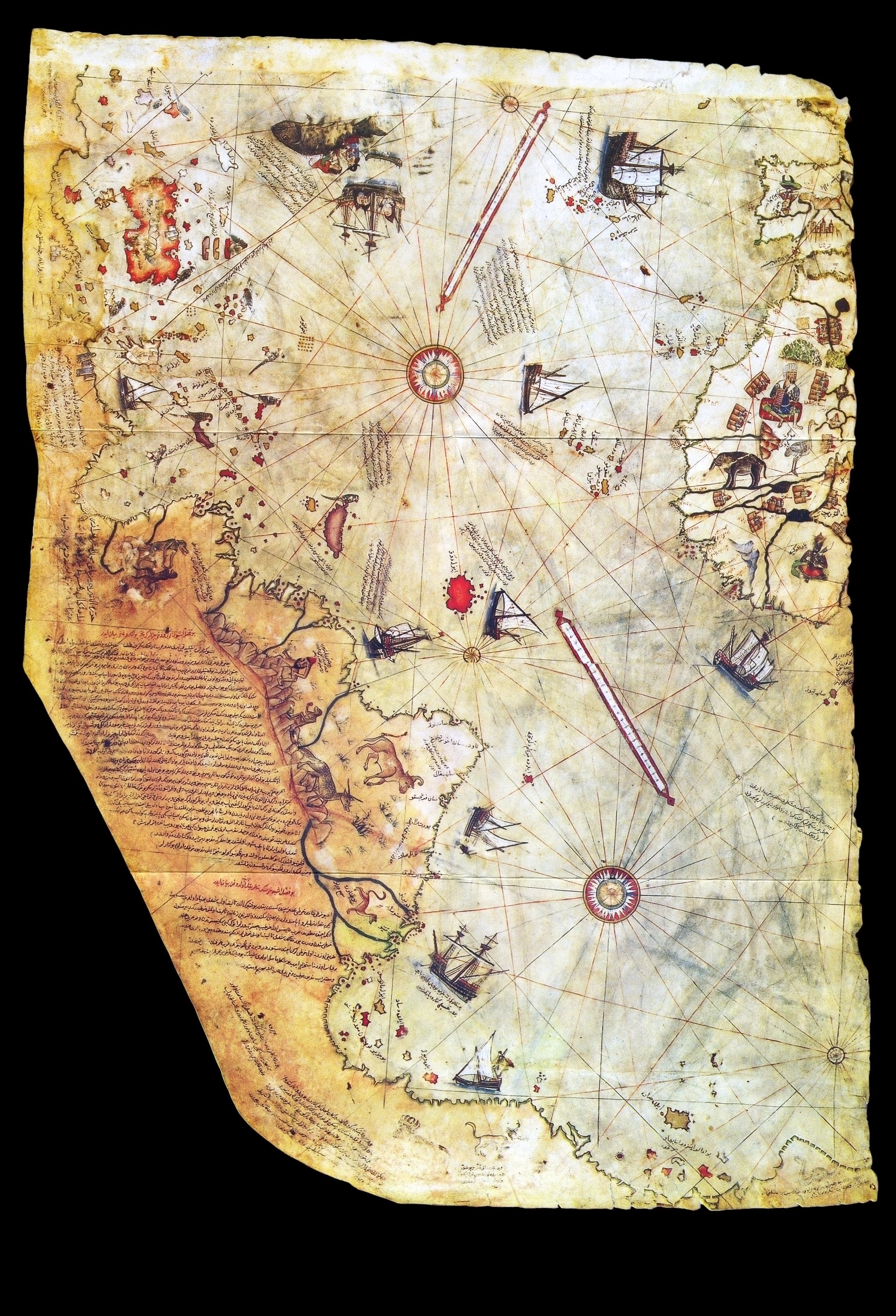 A small part of Piri Reis' world map, prepared in 1513, was discovered in 1929 at Topkapı Palace in Istanbul. (iStock Photo)