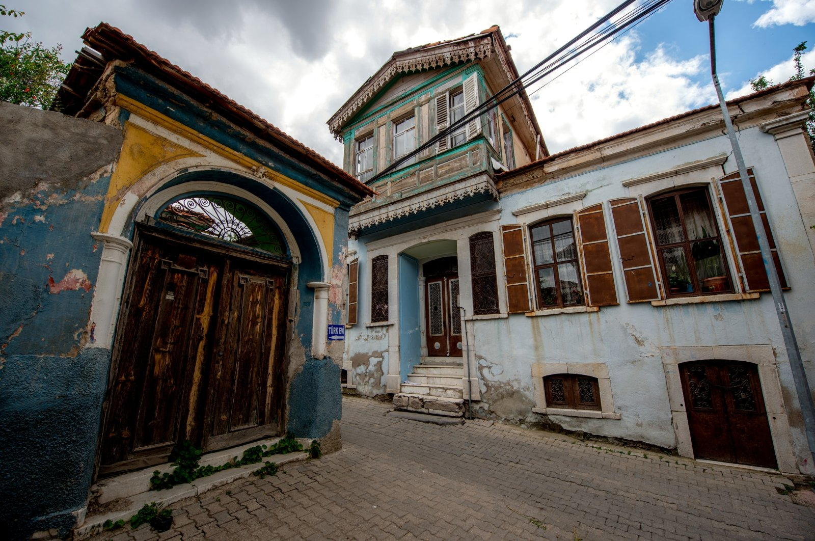 Some historical Ottoman houses in the town of Kula, Manisa, western Turkey.