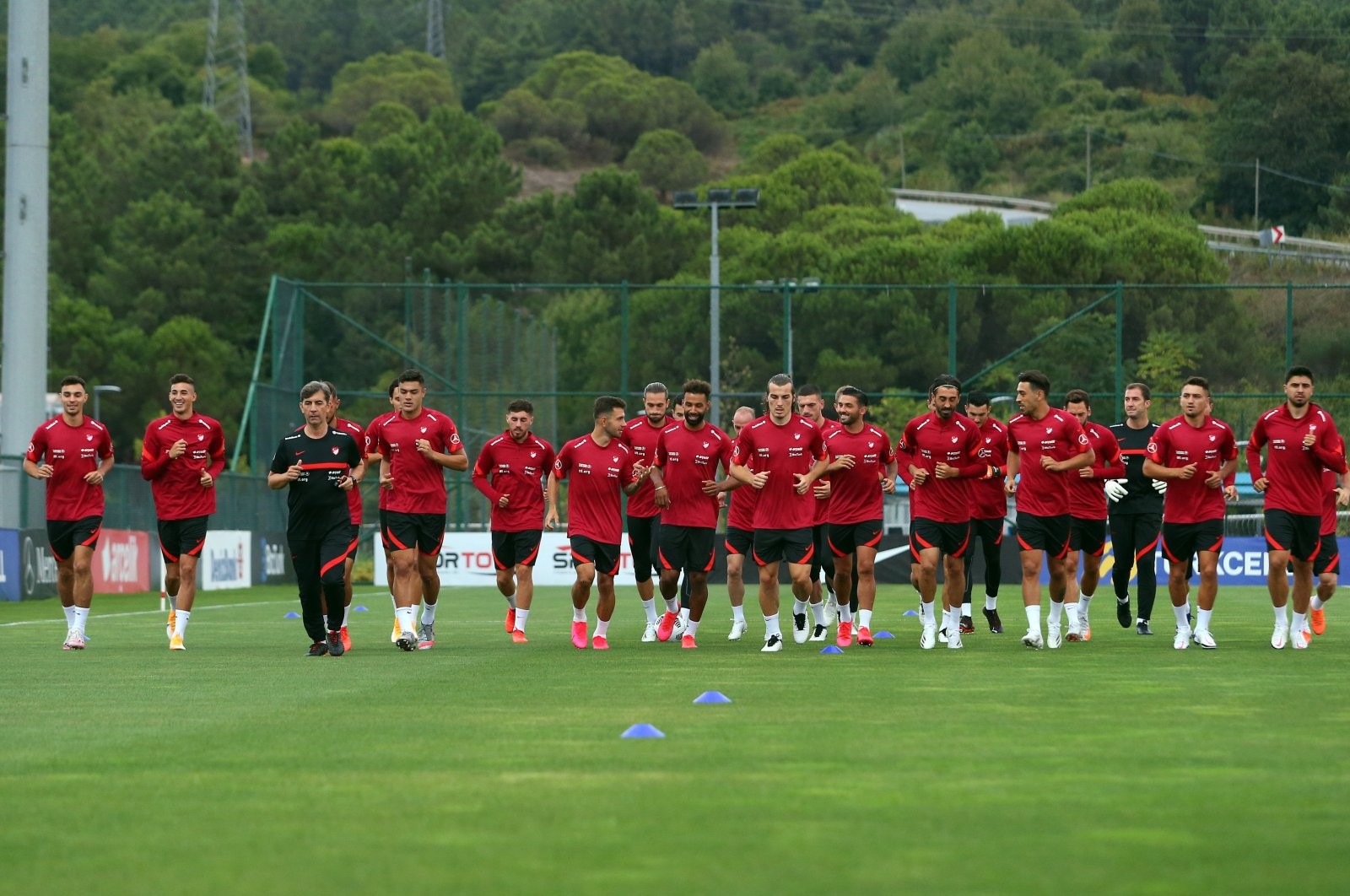 Turkish national football team attends a training session, in Istanbul, Turkey, Sept. 1, 2020. (İHA Photo)