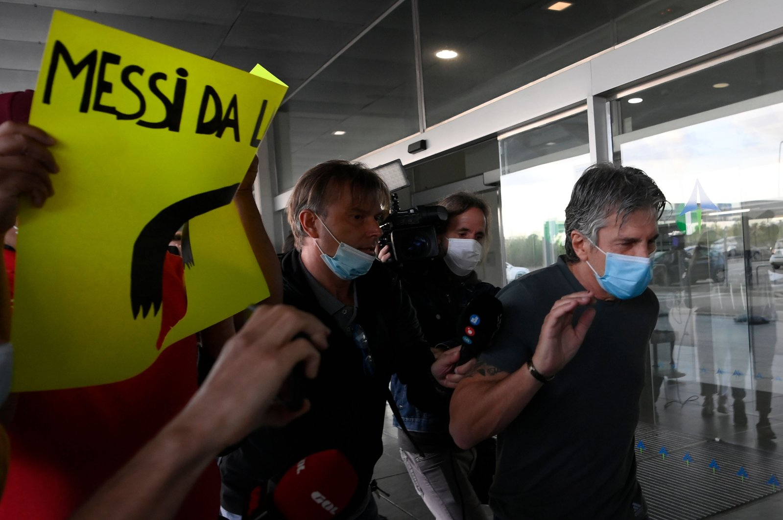 Jorge Messi, father and agent of Lionel Messi arrives at the Barcelona airport on September 02, 2020.(AFP Photo)