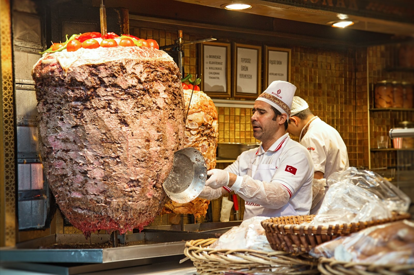 Döner kebab is probably the most widely known meat dish associated with Turkey across the world. (Shutterstock Photo)