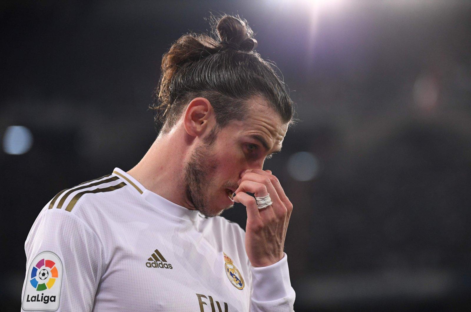 Real Madrid's Gareth Bale reacts during a La Liga match against Celta de Vigo, in Madrid, Spain, Feb. 16, 2020. (AFP Photo)