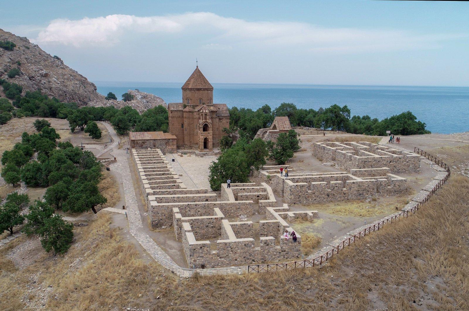 A view of Akdamar Church, in Van, eastern Turkey, Sept. 3, 2020. (AA Photo)