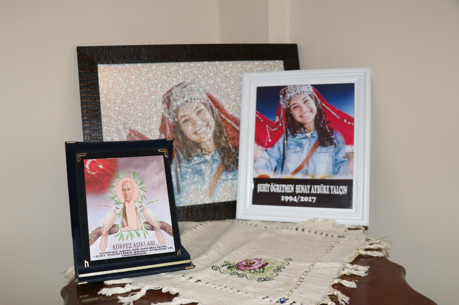The birthday of 22-year-old music teacher Şenay Aybüke Yalçın, who was killed in a PKK bomb attack in 2017, is remembered by her family in Karabük, Sept.4, 2020. (AA Photo)
