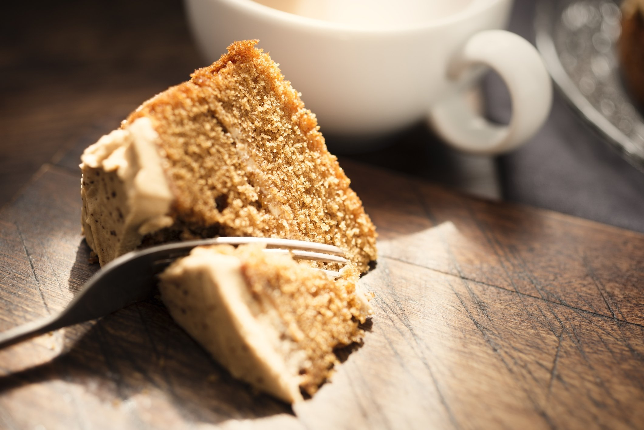 You can always top off your coffee cake with some hazelnut icing as well. (iStock Photo)