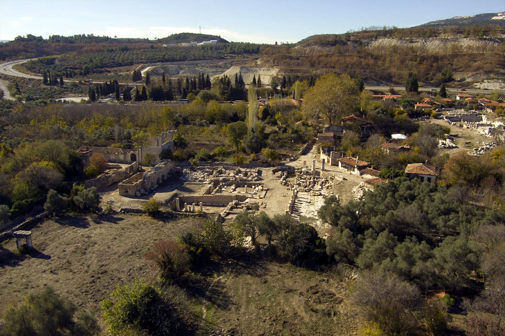 A general view from the ancient city of Stratonikeia, Muğla, southwestern Turkey, Nov. 22, 2018. (PHOTO BY KENAN GÜRBÜZ)