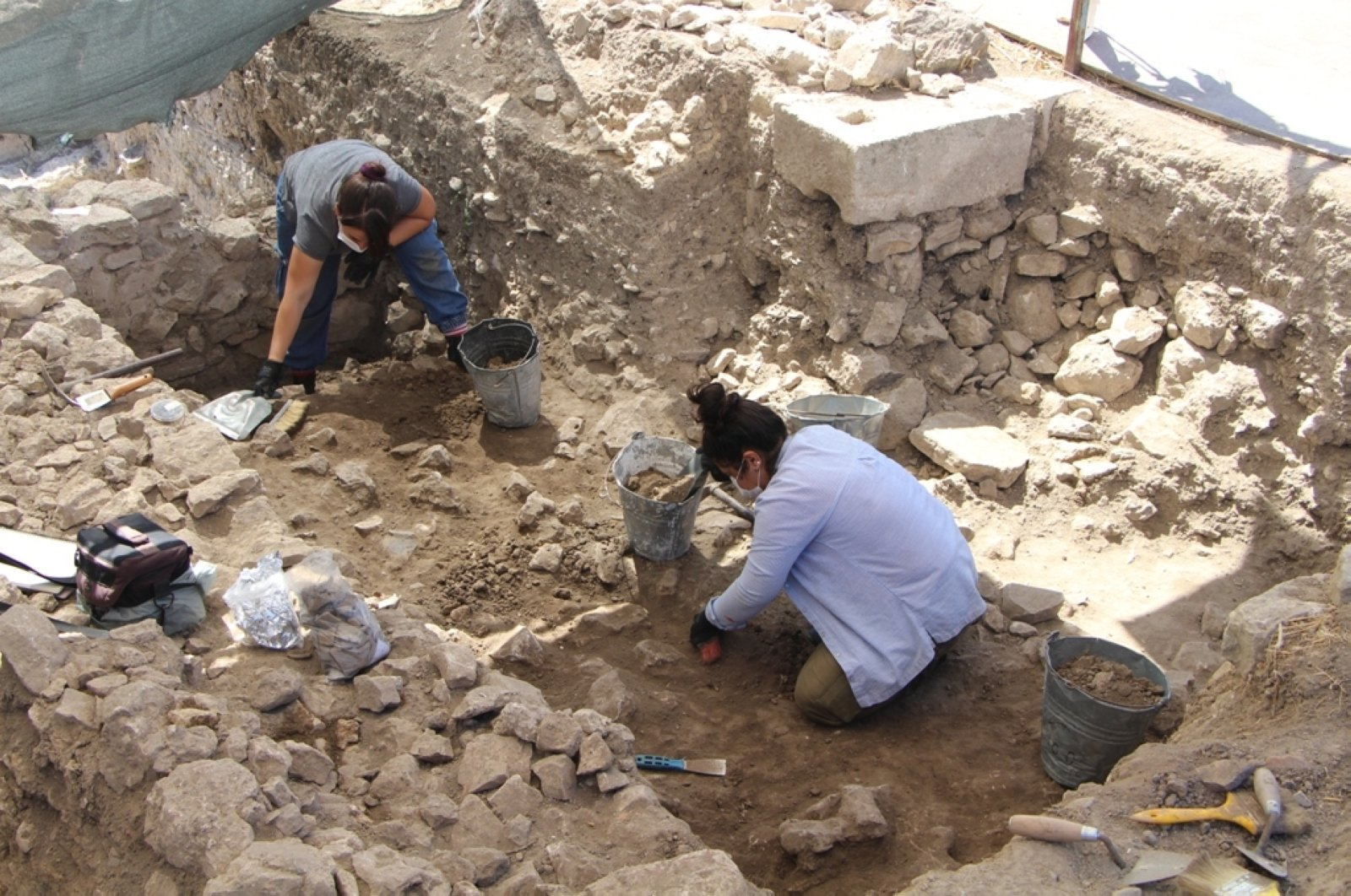 A photo from the ongoing excavations in the ancient city of Daskyleion, Balıkesir, western Turkey, Sept. 6, 2020. (AA PHOTO)