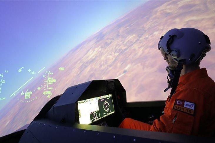 The Hürjet 270 engineering simulator developed for testing the Hürjet's design. (AA Photo)
