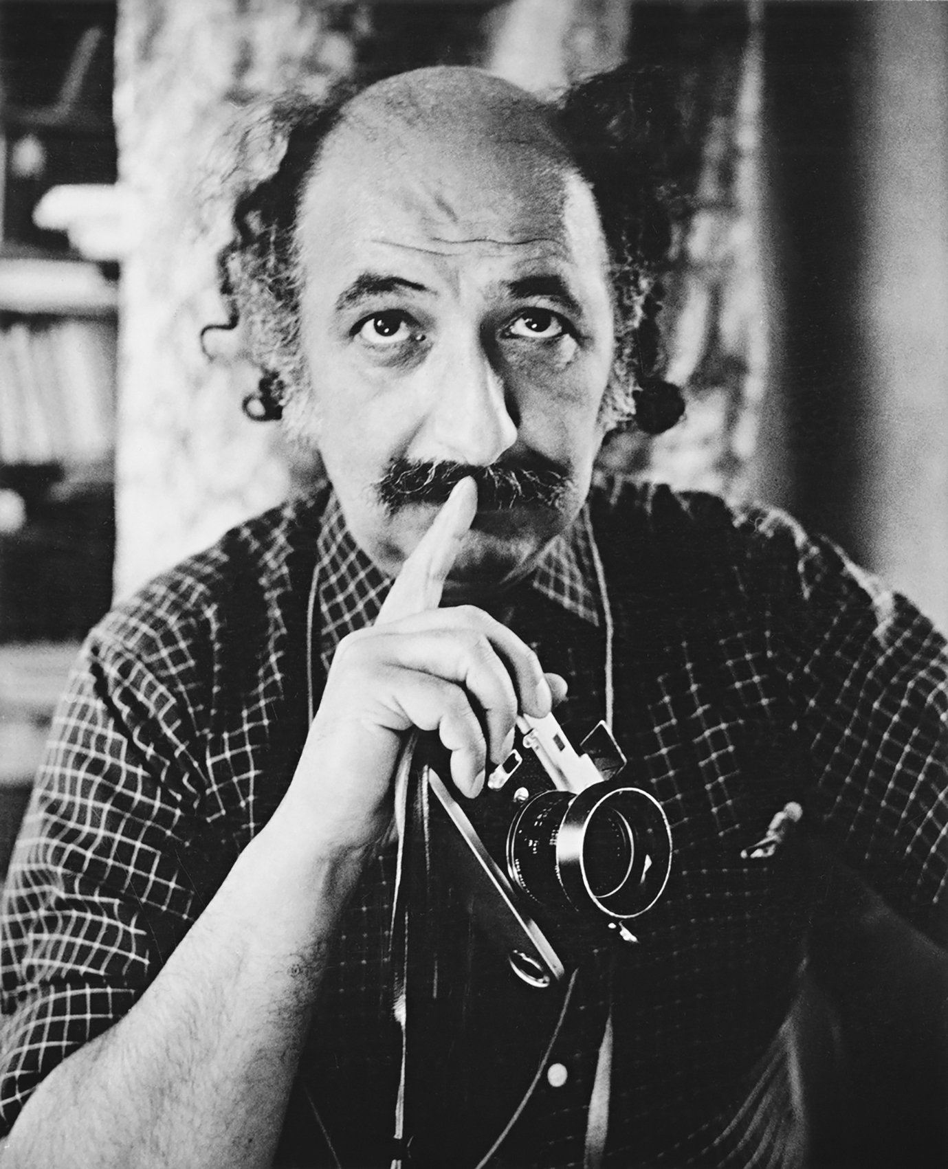 A photo of Ara Güler from the exhibition.