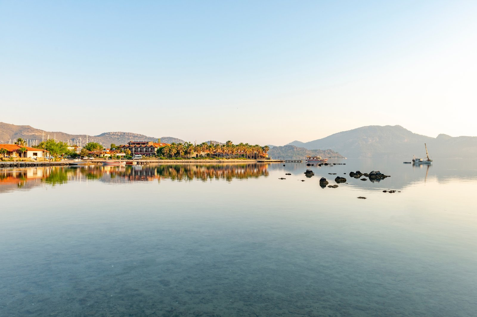 Photo shows a serene view from Selimiye village, in Muğla's Marmaris district, southwestern Turkey, on April 29, 2018. (Shutterstock Photo)