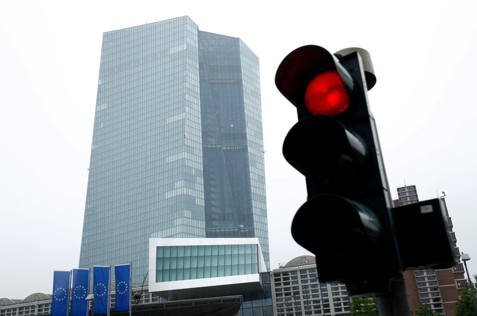The headquarters of the European Central Bank (ECB) in Frankfurt, Germany, July 8, 2020. (Reuters Photo)