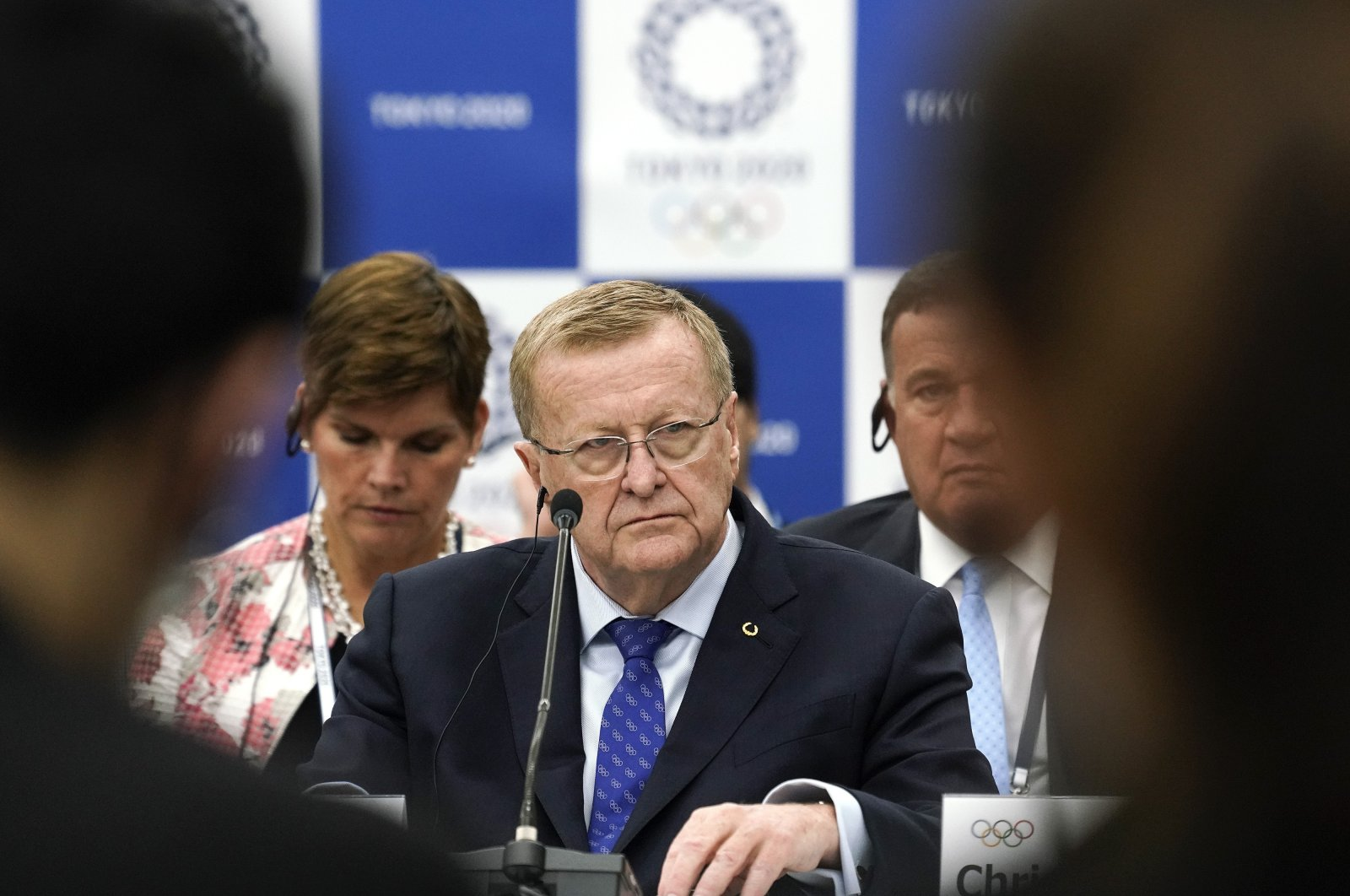 IOC Vice President John Coates during a press conference in Tokyo, Japan, Nov. 1, 2019. (AP Photo)